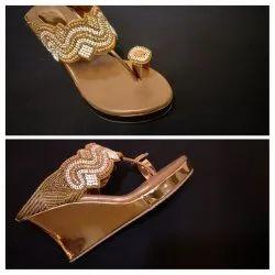 Women Fancy Party Wear Wedge Sandal