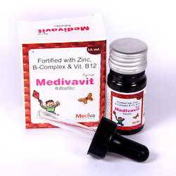 Multivitamin & Fortified with Zinc, B-Complex & Vitamin B12 Drops, Packaging Size: 15 mL