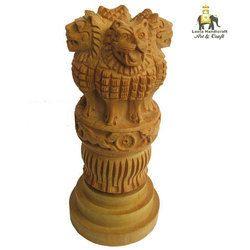 Wooden Ashoka Statue