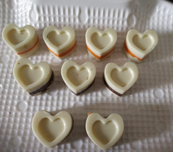 Homemade Heart Shaped White Chocolate