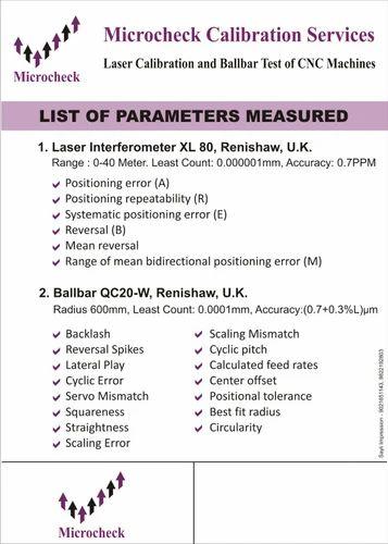 Pitch Error Measurement Of CNC Machine, Application/Usage