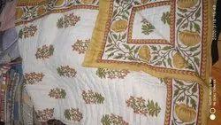 Jaipuri Floral Pure Cotton Double Bed Quilt