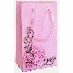 Pink Designer Paper Bag