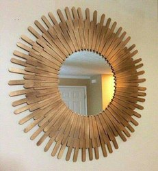 Wooden Designer Mirror