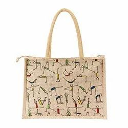 Zipper Jute Promotional Bag