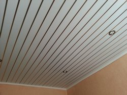 Film Coated Concealed Grid PVC Ceiling, Thickness: 8 Mm