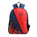 Red & Blue Polyester Printed School Backpack