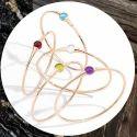 Superb Daisy Bangle Gemstone Cuff Style Female Jewelry Looking Gorgeous Stuffs
