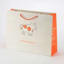 Paper Printed Carry Bag, Bag Size: 12--18 Inch, For Shopping