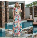 Digital Printed Rayon Gown