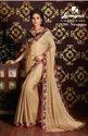 Laxmipati Beige Chiffon Saree Chitravali 5203