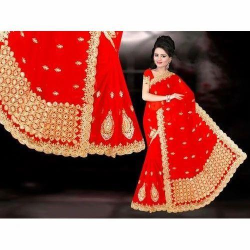 Ladies Heavy Designer Embroidered Saree Rs 600 Piece Sanskar