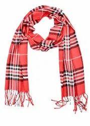 Ladies Red Check Winter Mufflers