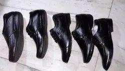 Men Black Zordan Softy Leather Shoes