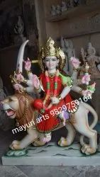 Lord Marble Durga Statue