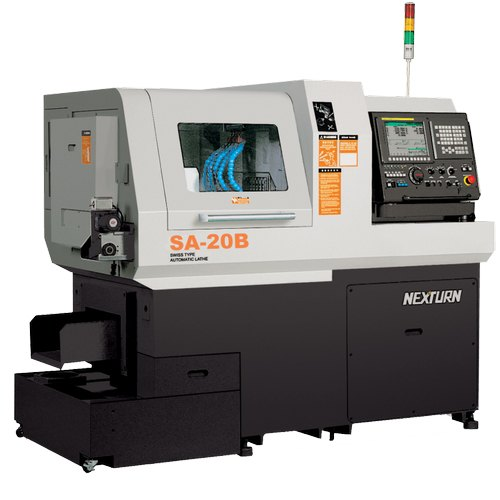 Automatic SA 20B Nexturn Swiss Type Sliding Head CNC Machine, Horizontal