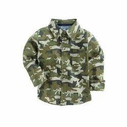 Regular Wear Cotton Kids army Shirt