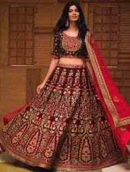 Beautiful Women's Embroidery Bridal Lehenga Choli By Parvati Fabric (76650)