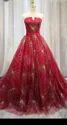 Goergette Bombay Style Ladies Wedding Wear Gown, Age: Above 20