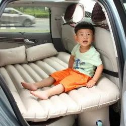 Cream Techtest Car Inflatable Bed, Thickness: 3inch, Package , Type: Box
