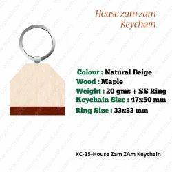 Wooden KeyChain-KC-25-House Zam ZAm Keychain