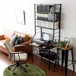 Square Wood Laptop Table With Racks And Drawer, For Home