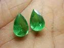 Green Emerald Quartz Pear Shape Doublet