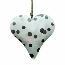 Polka Heart Hanging Iron Sheet