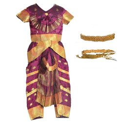 Traditional Girls Designer Bharathanatiyam Dress For Rent