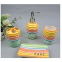 Ceramic Bathroom Rainbow Set