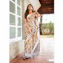 Designer Digital Printed Linen Saree