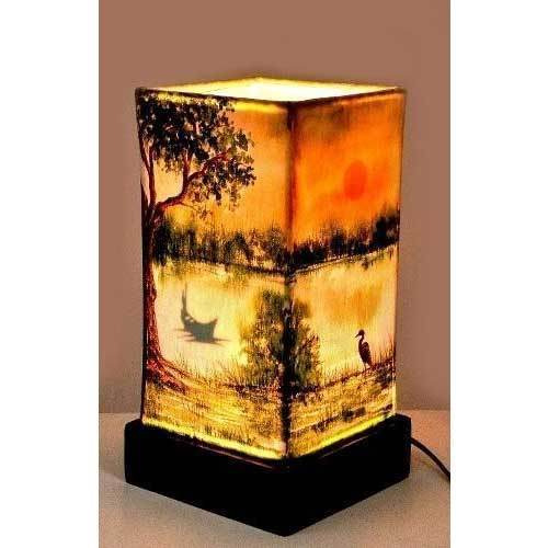 Handmade village scene table lamp at rs 1400 piece handmade lamps handmade village scene table lamp mozeypictures Images