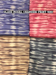 Glass Modal Chanderi Print Fabric