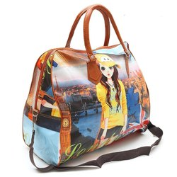 Printed Multicolor Ladies Bag, Size: 30.5 Cmx45.7 Cmx7.6 Cm