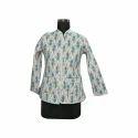 Ladies Printed Cotton Jacket