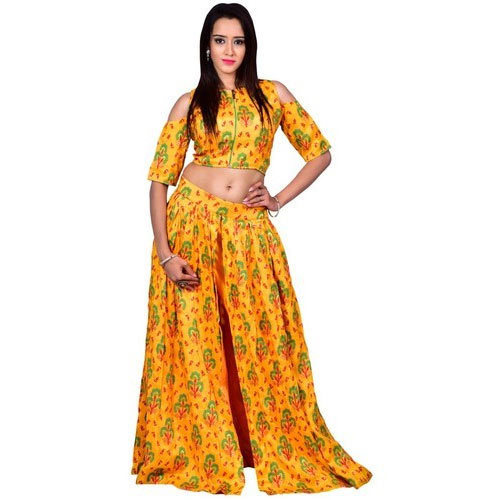 aa5af4ab6e424 Ladies Yellow Crop Top with Skirt at Rs 12000  piece