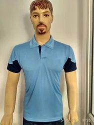Collar Blue Dri-Fit Sports T-Shirt