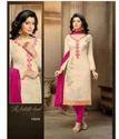 Beige Casual Wear Chanderi Cotton Salwar Kameez-sparxz18