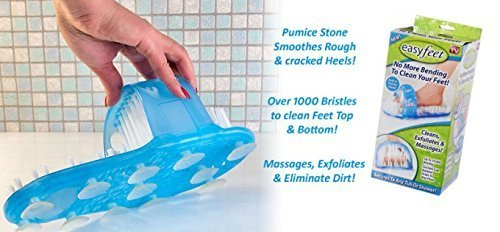 Easyfeet Shower Foot Cleaning Slipper With Scrubber U0026 Pumice