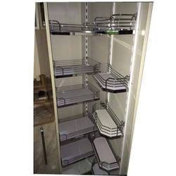Smart Silver SS Kitchen Pantry Unit, For Home