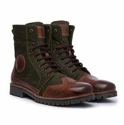 Leather, Canvas Huntsman Boots, Size: 7, 8, 9, 10, 11, 12