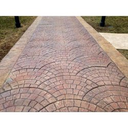 Stamped Concrete for Hardscaping, Thickness: >25 mm