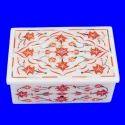 Marble Inlay Work Jewellery Box