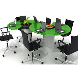 Small Conference Table Set At Rs Piece Modular Office Set - Small meeting table and chairs