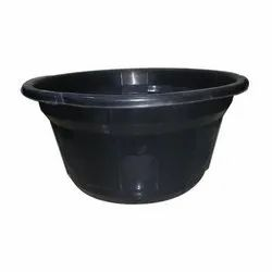 Black Unbreakable Plastic Tub