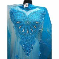 641d97e4d14d01 Unstitched Net Blue Beaded Lace Blouse, Size: 1.5 Meter, Rs 1300 ...
