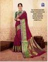 Ladies Maroon Banarasi Silk Saree