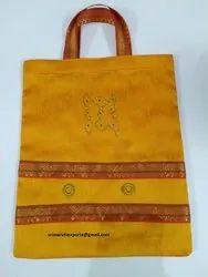 Handled Designer Silk Thamboolam Bags