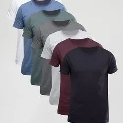 Men Plain-Round-Neck-T-Shirts