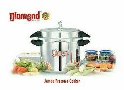 SS 22 liter Aluminium Jumbo Pressure Cooker for Hotel/Restaurant